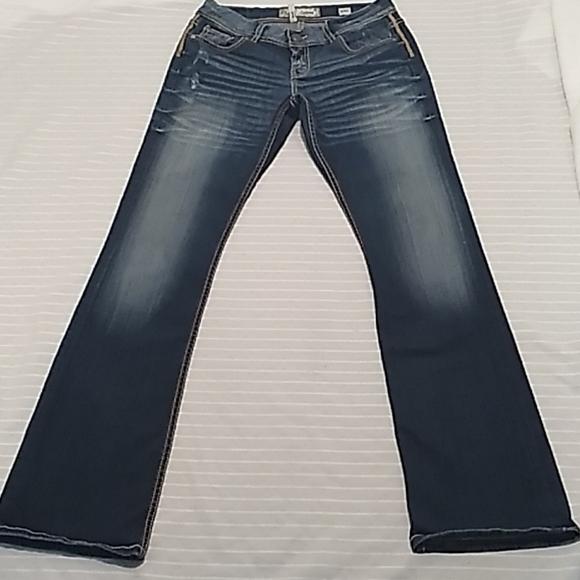 Bke Women Bootcut Light Washed Blue Jeans